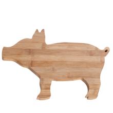 Pig shape bamboo cutting board