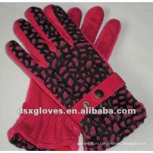 Женские трикотажные хлопчатобумажные перчатки