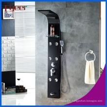 Panneau de douche noir en acier inoxydable de haute qualité de pluie de massage de Fyeer