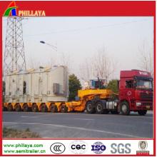 Semi-remorque résistante hydraulique Lowbed de camion de transport de Lowbed