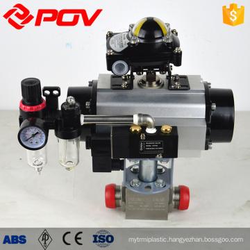 Pneumatic high pressure stainless steel ball float valve
