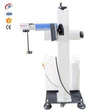 Máquina de marcação a laser de fibra voadora para data / logotipo do produto