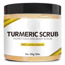 Natural Skin Brightening Moisturizing Turmeric Salt Body Facial Scrub