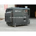 7KW silencioso eléctrico trifásico refrigerado por aire del generador diesel con panel digital