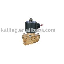 Válvula de solenoide de presión de alta temperatura de agua de latón de 1 pulgada
