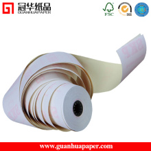 SGS 76mm * 70mm 3 Ply Carbonless Papierrolle