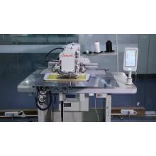 máquina de coser de doble aguja con control de panel táctil