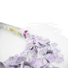 Dinero falso euro del nuevo diseño de los 40cm en el cañón del confeti para la venta al por mayor