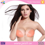 China Gold Supplier High Quality Hot Seamless Young Ladies Sexy Silicone Bra