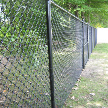 Strong pvc coated chain link fence in school
