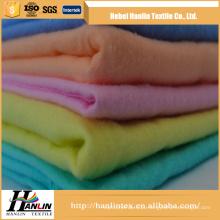 100% algodão tingido / cor sólida escovado duplo tecido de flanela C20S * C10S / 40 * 42 * 44 'fábrica
