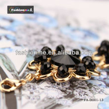 Fashioneme schwarzes Armband Großhandel Kreis Diamond Serie