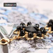 Série de diamond Fashioneme bracelet noir en gros cercle