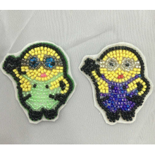 6 färger maskin pärlstav patch yello minions patch