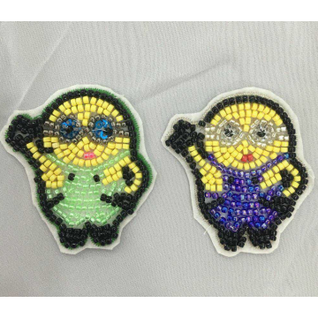 6 cores máquina frisada patch yello minions patch