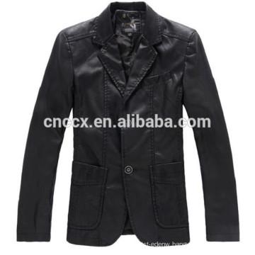 15PKPU04 fall winter fashion slim fit men pu jacket