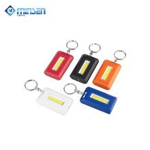 Battery Powered Key Flashlight 0.5W COB 35LM LED Light Up Keychain Light