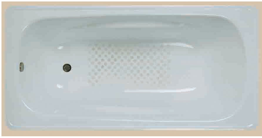 Steel bathtub LG1500B5 1500x750x390mm