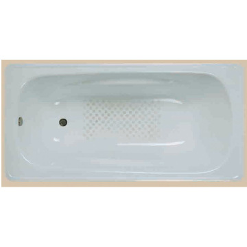 White Enamel Steel Bathtub