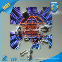 Facotry una vez el uso de pegatinas de holograma no removible