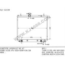Radiador automotivo promocional de alumínio para Toyota Avensis′05 Azt250 em