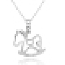 Women′s 925 Sterling Silver Trojan Horse Pendant Necklace with Chain