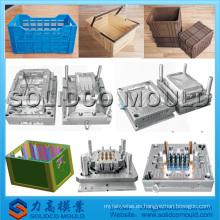cajas de plástico molde cajas de perro molde de inyección molde de cajón de transporte de aves de corral