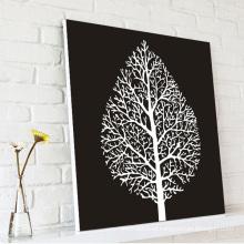 Black Wall Art Abstract Tree Leaf Canvas Printing