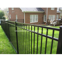 Metal Iron Fence with Three Rails