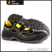 Leather Safety Sandal with Steel Toe and Velcro (SN5448)