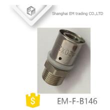 EM-F-B146 Male thread connector equal diameter pass pex al pex joint