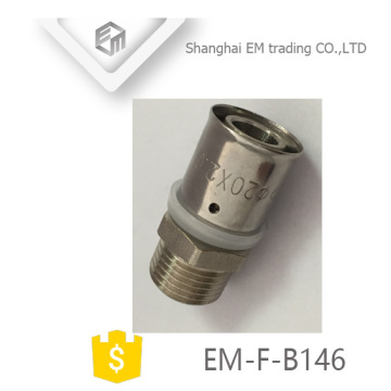 EM-F-B146 Male thread connector equal diameter pass pex al pex joint