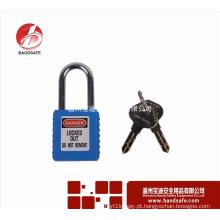 Cadeado de segurança de isolamento de ABS cadeado de bloqueio de cor azul bloqueio de vedação do recipiente do fornecedor OEM