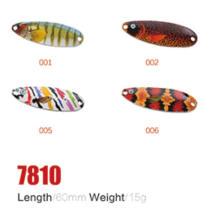 Alta qualidade e baixo preço 60mm 15g iscas de colher de pesca