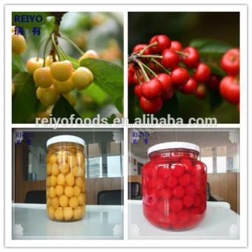 Conservas de cereja colorida