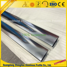 Perfis de alumínio polido brilhante para decoração de móveis de alto padrão
