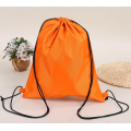 Promotional nylon drawstring backpack for outdoors