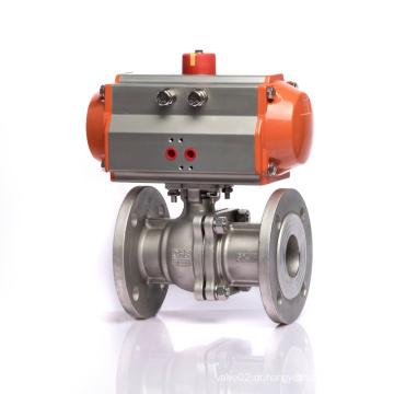 KLQD Marca DN50 em aço inoxidável Flange Conntect 2 vias SS válvula de esfera
