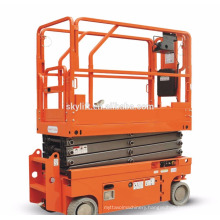 mobile electric engine scissor lift for outdoor operation