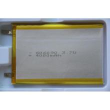 3.7V 4000mAh batería recargable del Li-Polímero 606090