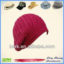 LSC24 Ningbo Lingshang elegantes mujeres de invierno sombreros de algodón y gorras