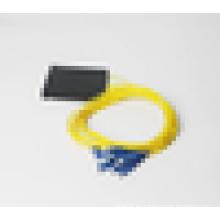 Caja de cassette SC / PC Divisor óptico de fibra SM o MM 1 * 8 Divisor PLC