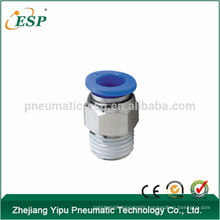 pneumatic fittings male straight PC-c compact fitting fitings with plastic sleeve