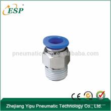пневматические фитинги мужской прямые ПК-C компактная сторона ТПА с пластиковой втулкой