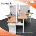 Open Style 3 Person 120 Degree Office Altura ajustável Workstation