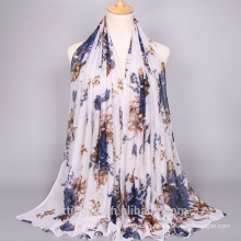 Wholesale Women Hijab Scarf Printing Floral Luxury Muslim Women Hijab Scarf