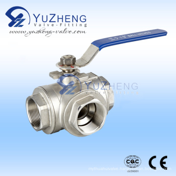 Ss 3-Way Thread Ball Valve