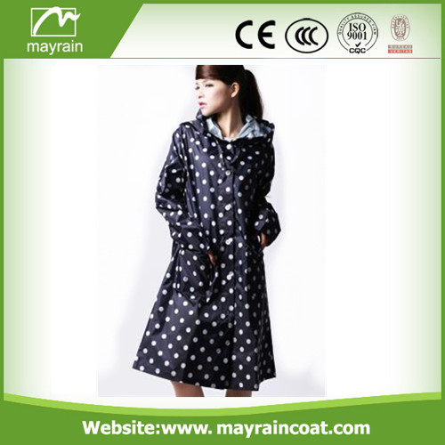 Full Printing Ladies Wind Raincoat