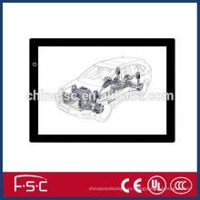 Popular AC110V/220V/60Hz DC12V led tablero calco A3 caja de vuelo