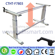 CTHT-F7803 PETRONAS company manual crank adjustable height office table frame in 2 legs Height adjustable laptop desk